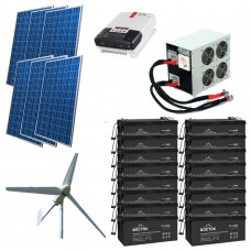 Автономная солнечно-ветровая электростанция 1,2 + 3 кВт