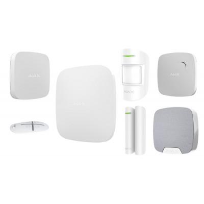 AJAX Система безопасности однокомнатная квартира WHITE