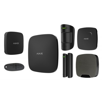 AJAX Система безопасности однокомнатная квартира BLACK