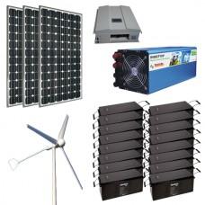 Автономная солнечно-ветровая электростанция